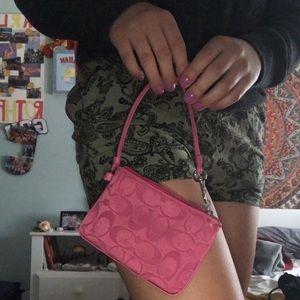 Adorable pink coach bag
